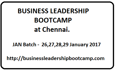 Business Leadership Bootcamp by Dr Maharaja SivaSubramanian N at Chennai