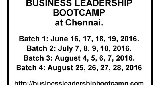 Business leadership bootcamp to grow your business by Dr Maharaja SivaSubramanian N Chennai India